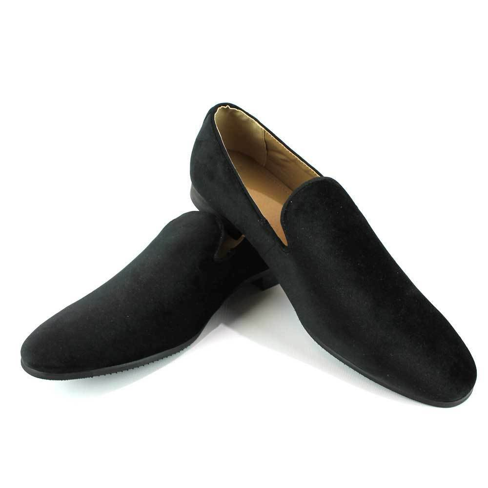 Slip On Velvet Handmade Loafers Modern Formal Men's Dress Shoes Footwear AZAR