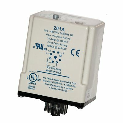 201a Symcom 3-phase Plug-in Voltage Monitoring Relay Phase Loss Undervoltage