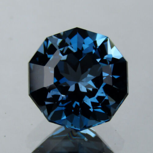 3.03CTS EXCELLENT CUSTOM ROUND NATURAL LONDON BLUE TOPAZ 8.4 MM LOOSE GEMSTONE