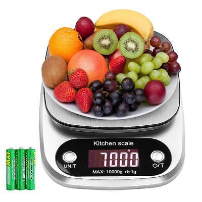 10kg/1g Digitale Küchenwaage Haushaltswaage Briefwaage Kitchen Scale Edelstahl