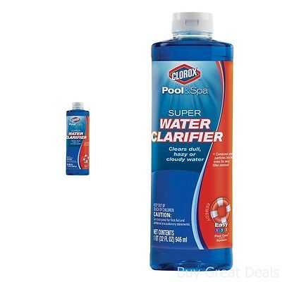 Super Water Clarifier Easy Filter Pool Hot Tubs Supplies And Accessories 1-Quart