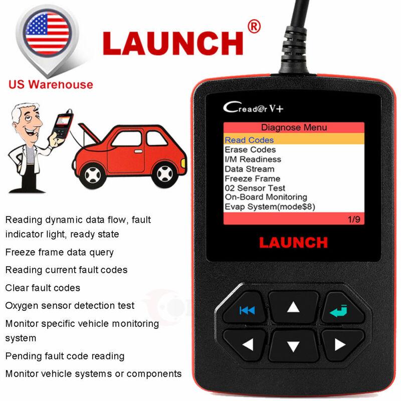 100% Original Launch Creader V+ Ob D2 Code Reader Engine Car D Iagnostic Scanner