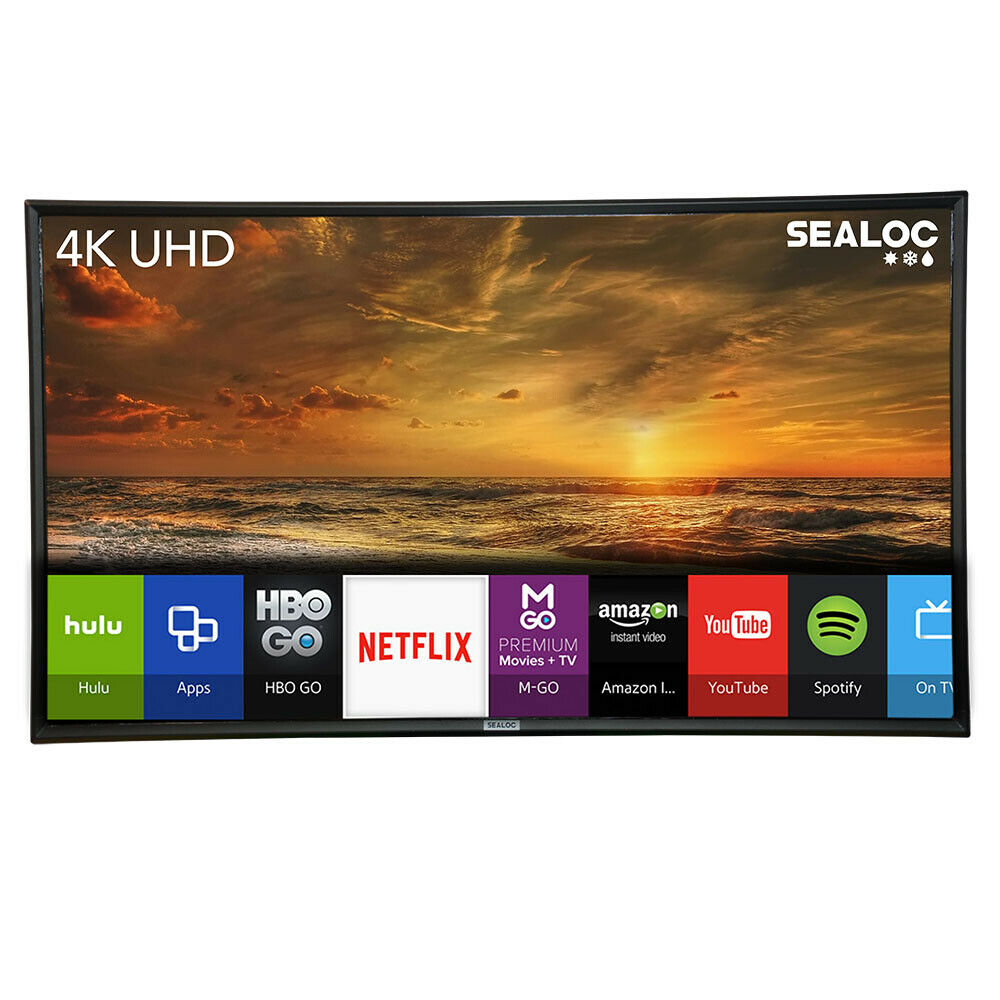 "Outdoor TV Weatherproof Television 4K 55"" Smart LED Ultra HD"