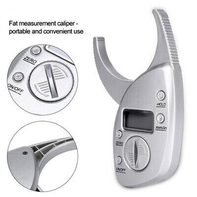 Electronic Body Fat Caliper Monitors Analyzer Digital Skinfold Measure Tester