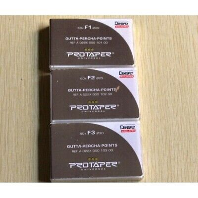 Protaper Universal F1 And F2 Gutta Percha Points Dentsply Box Of 60 Free Ship