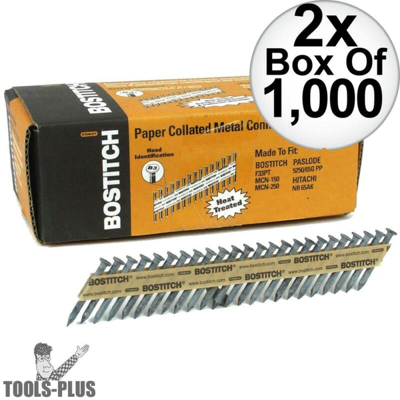 Bostitch PT-MC14815GAL1M 1,000 35 deg. Galvanized Strapshot Nails 2x New