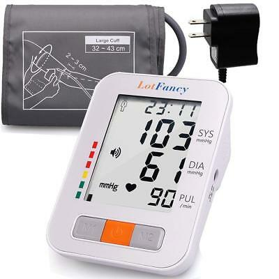 Arm High Blood Pressure Monitor Large BP Cuff Talking Function Machine w/Adapter