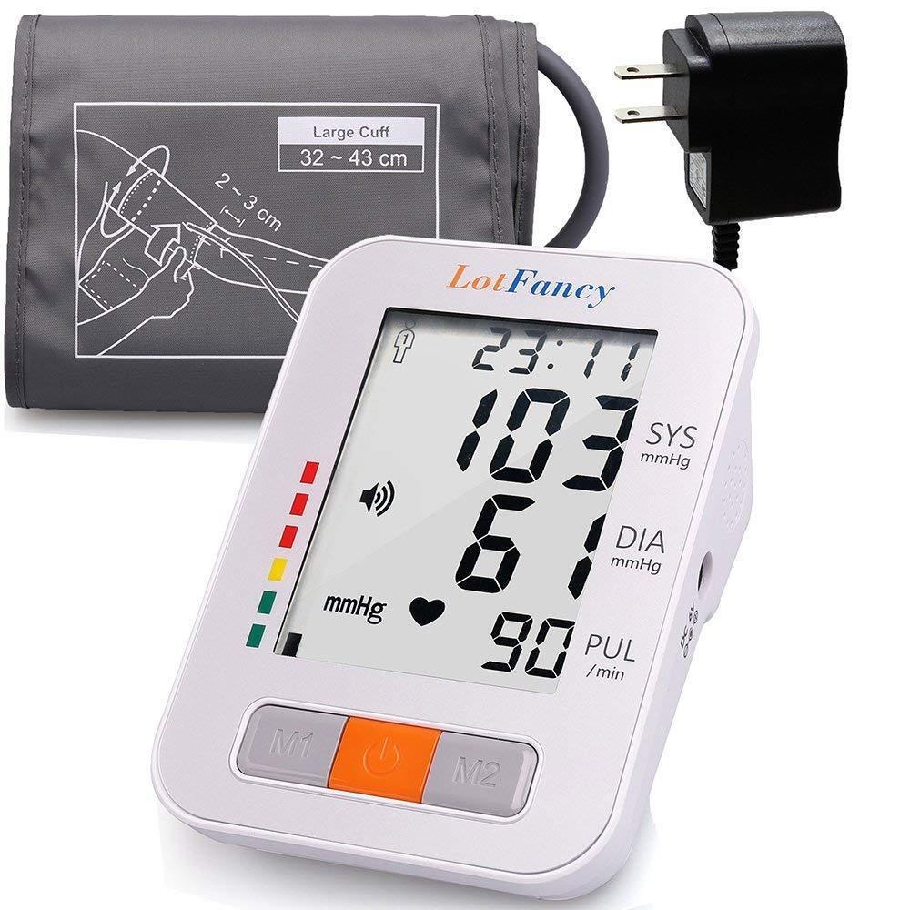 Arm High Blood Pressure Monitor Large BP Cuff Talking Functi