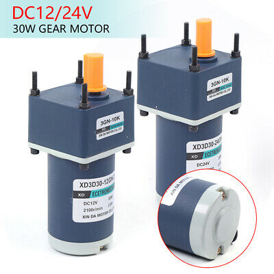 Dc12v24v 60w High Torsion Adjustable Speed Gear Permanent Magnet Geared Motor