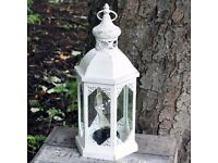 Brand New Large Lovely Battery Operated Hexagonal 40cm Cream Lantern with Bulb