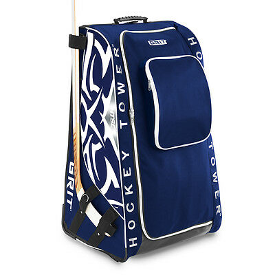 "New GRIT HTSE ice hockey tower stand bag 33"" blue white Toronto junior equipment"
