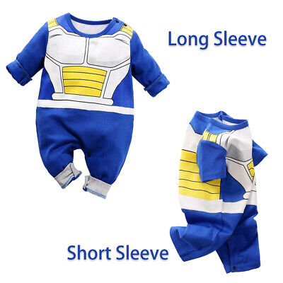Newborn Baby Boy Dragon Ball Z Costume Romper Vegeta Outfit Infant Playsuit Gift (Infant Boy Costume)