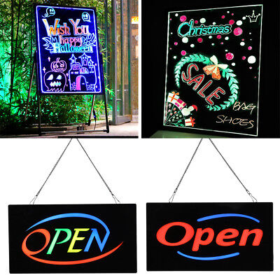 9 Styles Flashing Illuminated Erasable Neon Led Message Menu Writing Sign Board
