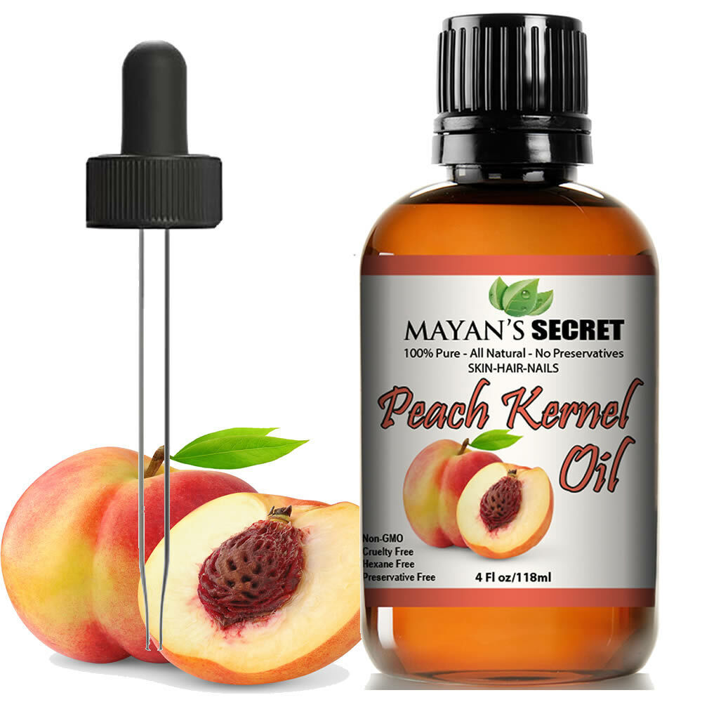 100% Pure Virgin Peach Kernel Oil for Skin Elasticity,Firming, Hair,Nail Care Health & Beauty