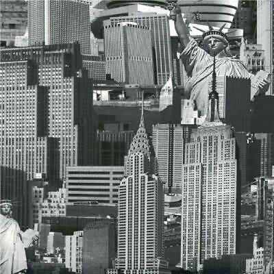 Muriva New York Cityscape Wallpaper Black White Skyline Landmarks Empire State