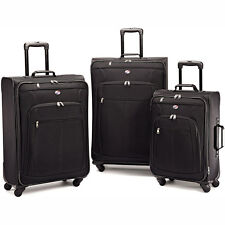 American Tourister Pop Plus 3 Piece Nested Spinner Luggage Set Black 64590-1041