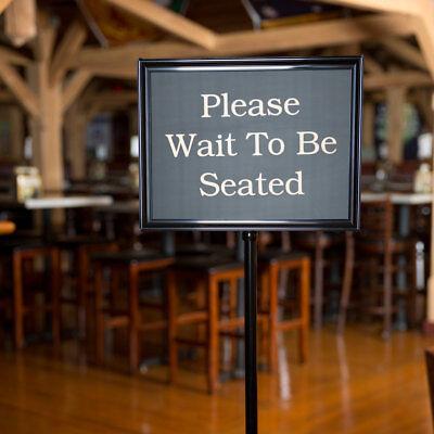 15 Message Black 60 Changeable Restaurant Hostess Wait Teller Seating Door Sign