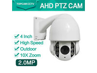 ptz camera ahd 2mp 4inch x 10 zoom cctv camera