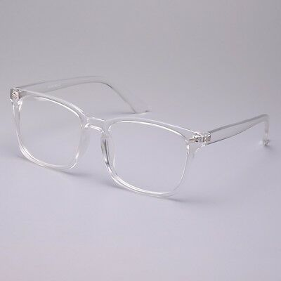 Vintage Men Women Transparent Eyeglass Frame G Spectacles Clear Lens Eyewear (Clear Spectacle Frames)