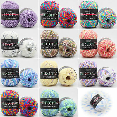 23 Acrylic Yarn - 23Color Colorful 50g Acrylic Cotton Crochet Baby Scarf Wool Knitting Yarn Craft