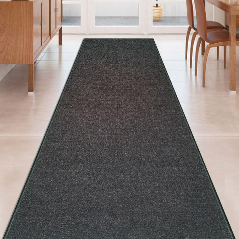 custom size black stair hallway runner rug