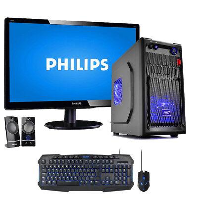 """PC DESKTOP QUADCORE ASSEMBLATO RAM 8GB DDR4 / HDD / COMPUTER FISSO + MONITOR 19"""""""