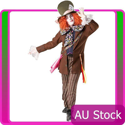 Mad Hatter Queen Of Hearts Costume (Alice In Wonderland Mad Hatter Red Queen Of Hearts Adult Fancy Dress)