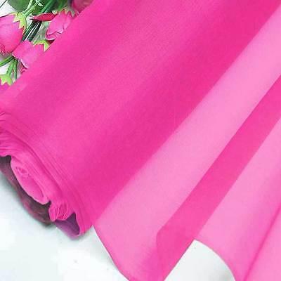 Hot pink sample half yard pure silk organza bridal dress for Wedding dress fabric samples