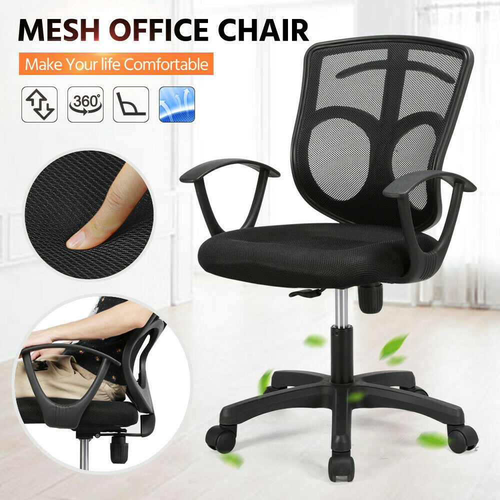 Office Chair Mesh Adjustable Executive Swivel Computer
