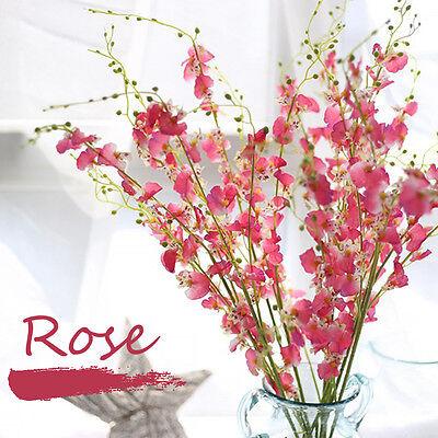 - 10 stems Artificial Floral Silk Fake Flower Bouquet Home Decor Wedding Decor 10