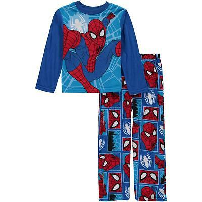 Marvel Ultimate Spider-Man Boy's 2 Piece Fleece Pajama Set NWT Size 4  Sleepwear