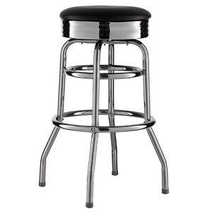 tabouret de bar noir am ricain d ner 50er r tro chaise us style neuf ebay. Black Bedroom Furniture Sets. Home Design Ideas