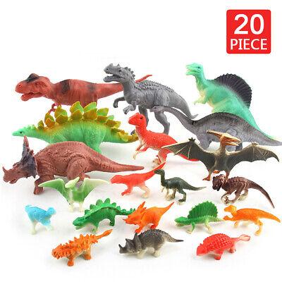 20 Stück Dinosaurier Figuren Set, Mini Dinos Figuren Party für Kinder Spielzeug