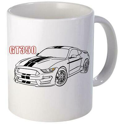 2016-19 Shelby GT350 Mustang Outline Coffee Mug 11oz 15 oz Ceramic (Mustang 15 Ounce Mug)
