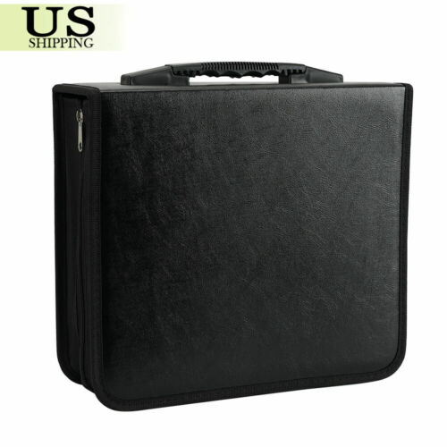 400 Disc CD DVD Organizer Holder Storager Case Bag Wallet Album Medi Video Black
