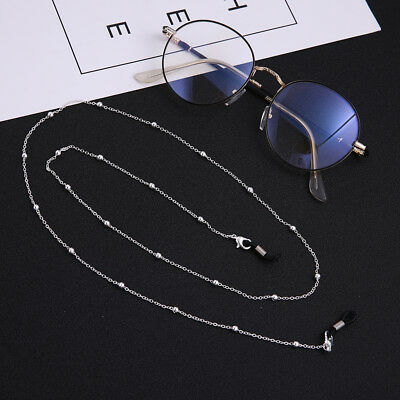 2pcs Fashion Beads Link Glasses Chain- Secure Eyeglasses Sunglasses Strap (Sunglasses Security Strap)