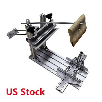 Us Stock Manual Cylinder Silk Screen Printing Machine With 6 Squeegee