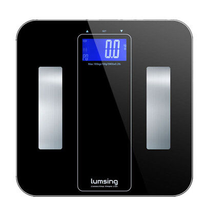 400lbs/180kg Digital LCD Smart Body Weight Scale Bathroom Fat Muscle BMI Calorie