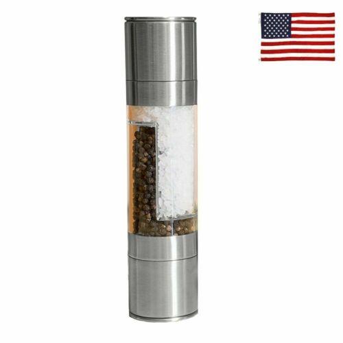2 In 1 Stainless Steel Manual Pepper Salt Spice Mill Grinder