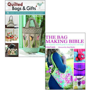 Quilted Bags and Gifts and The Bag Making Bible Collection 2 Books Set Pack NEW