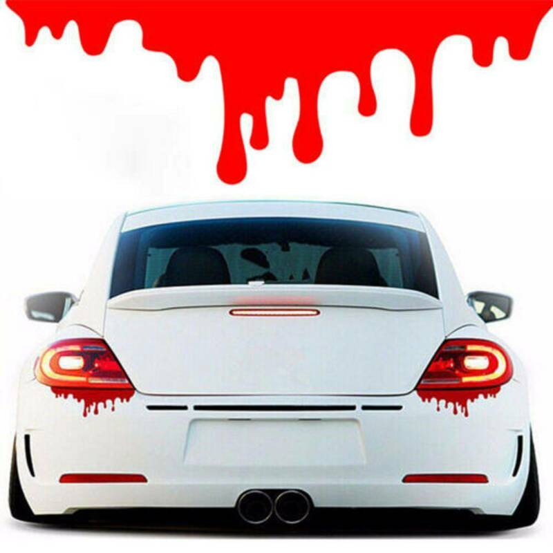 Car Auto Body Headlight Tail Light Bleeding Decor Red Blood Vinyl Decal Sticker