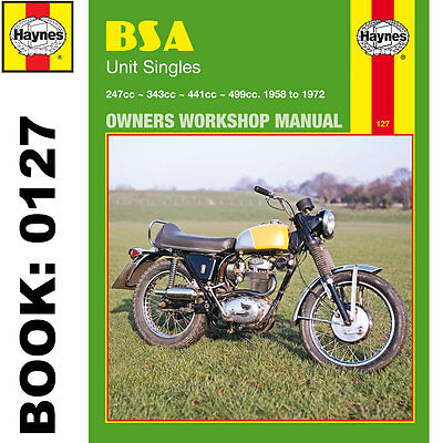 BSA B25 B40 B44 B50 Barracuda C15 C25 Gold Star Startfire Victor 1958-1972 Hayne