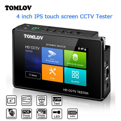 Tomlov 6 In 1 Cctv Video Tester 4k Poe Power Out Support Tvi Ahd Cvi Ptz Control