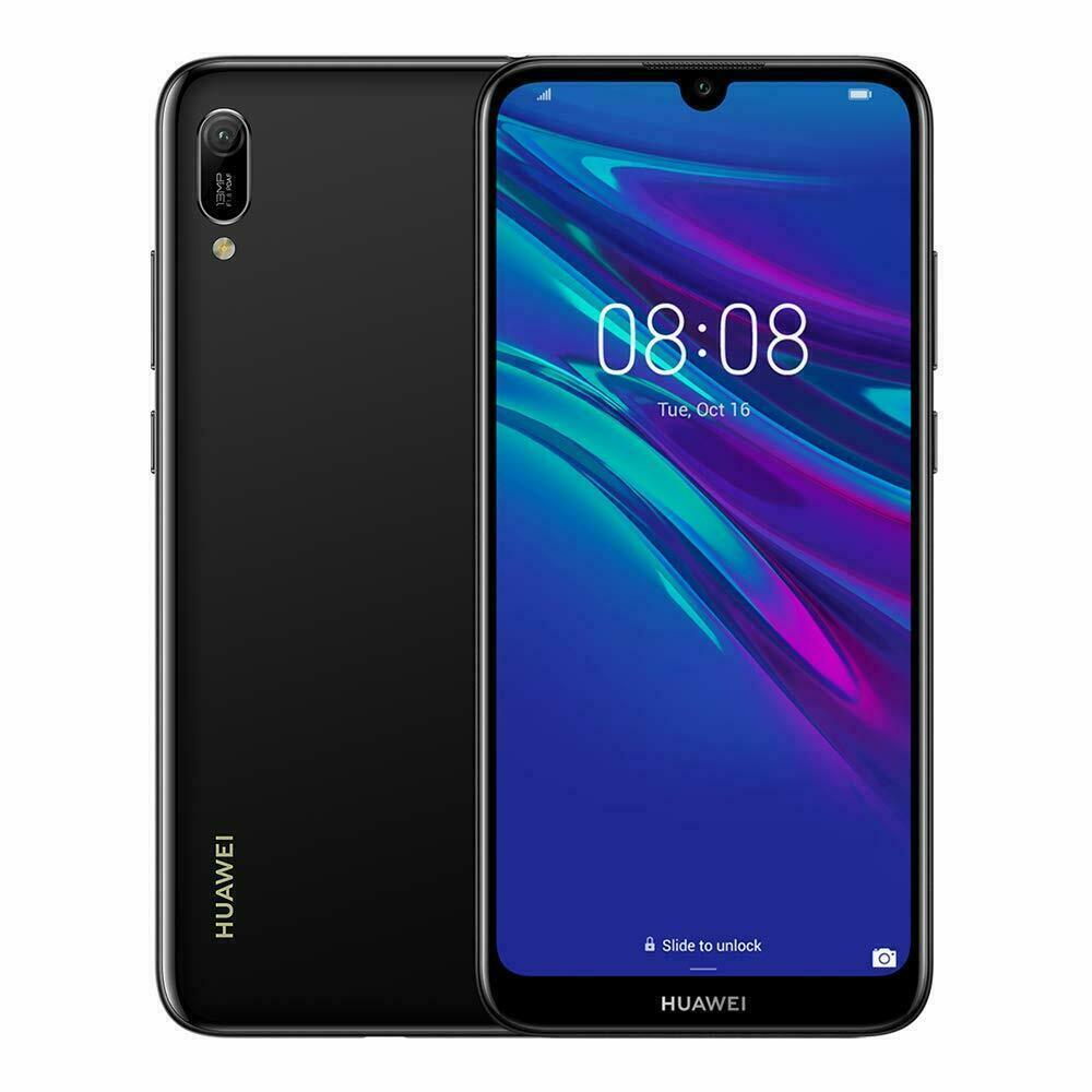 Android Phone - Huawei Y6 2019 Black - 4G LTE 32GB Smart Phone / Android 9.0 / Unlocked / 13MP