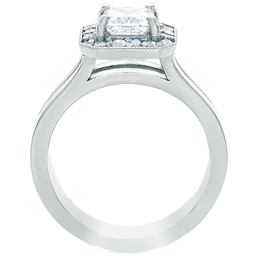 GIA Certified Diamond Engagement Ring 1.24 Carat Princess Cut 14k White Gold  7