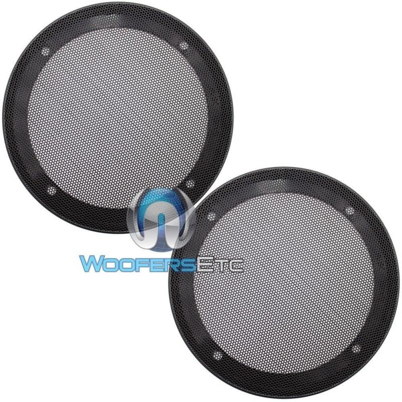 """(2) UNIVERSAL 6.5"""" SPEAKER COAXIAL COMPONENT PROTECTIVE GRILLS COVERS NEW PAIR"""