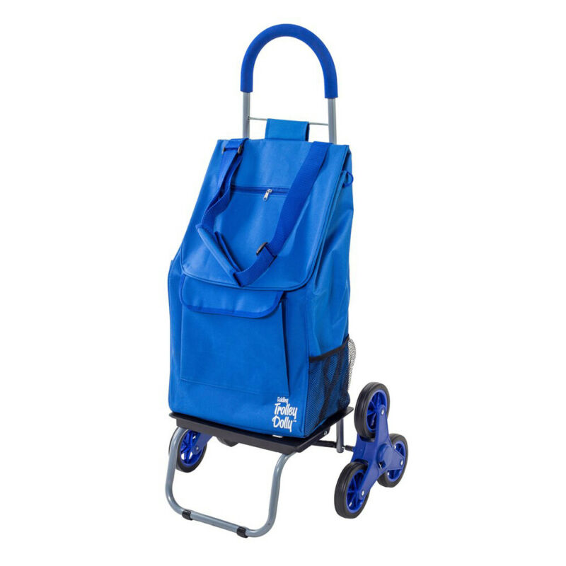 dbest products Portable Folding Stair Climber Trolley Dolly Wagon Cart, Blue