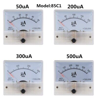 85c1 Analog Current Panel Meter Dc 50-500a Ammeter Circuit Testing Ampere Gauge