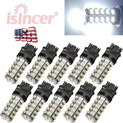 10PCS 6000K WHITE 3157 68 SMD LED TAIL/BRAKE/STOP LIGHT BULBS T25 3057 3457 4157