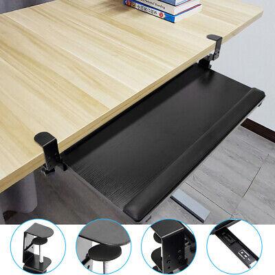 Large Clamp On Underdesk Ergonomic Keyboard Tray Desk Drawer Keyboard Stand New